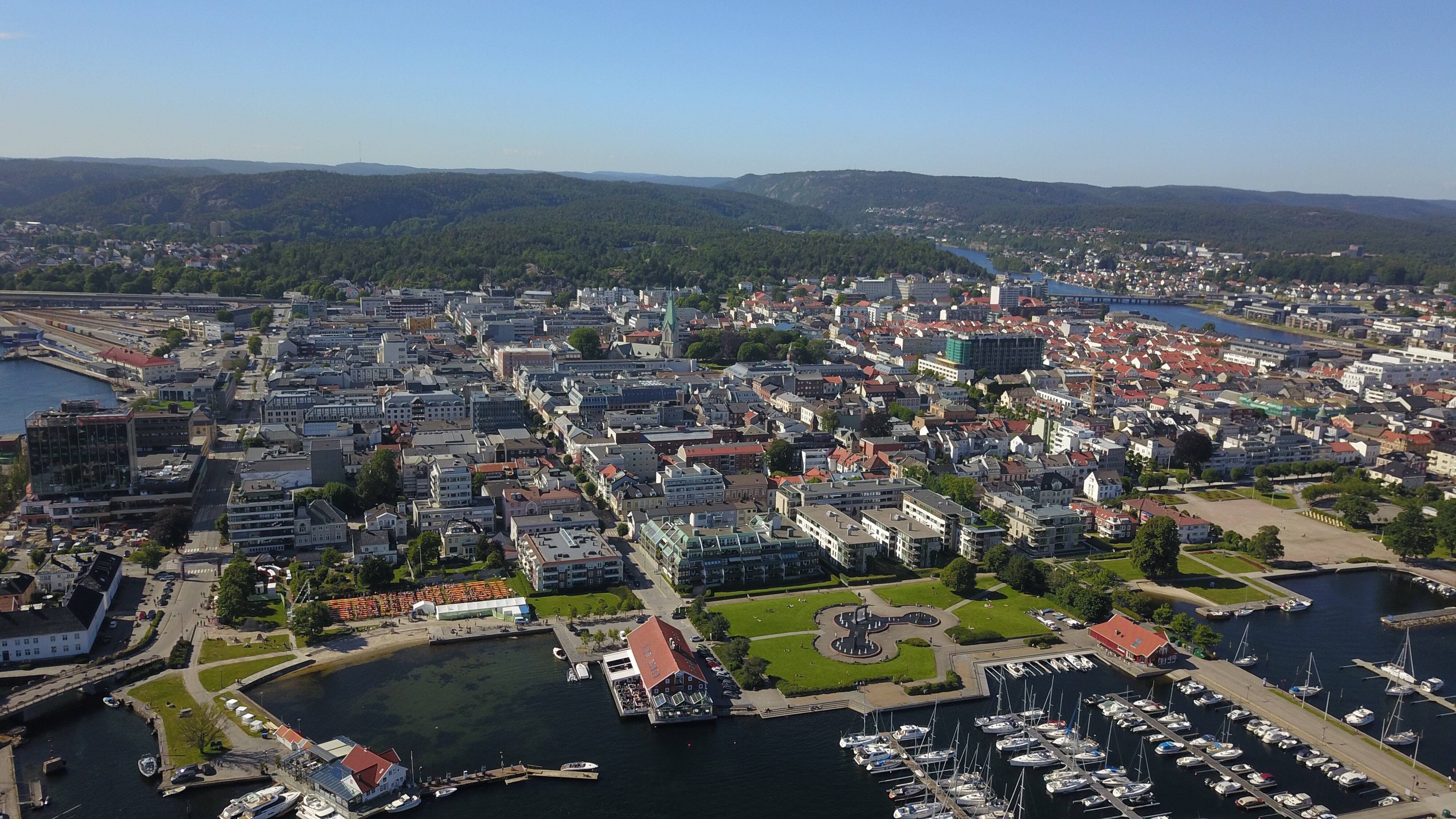 City of Kristiansand seen from above