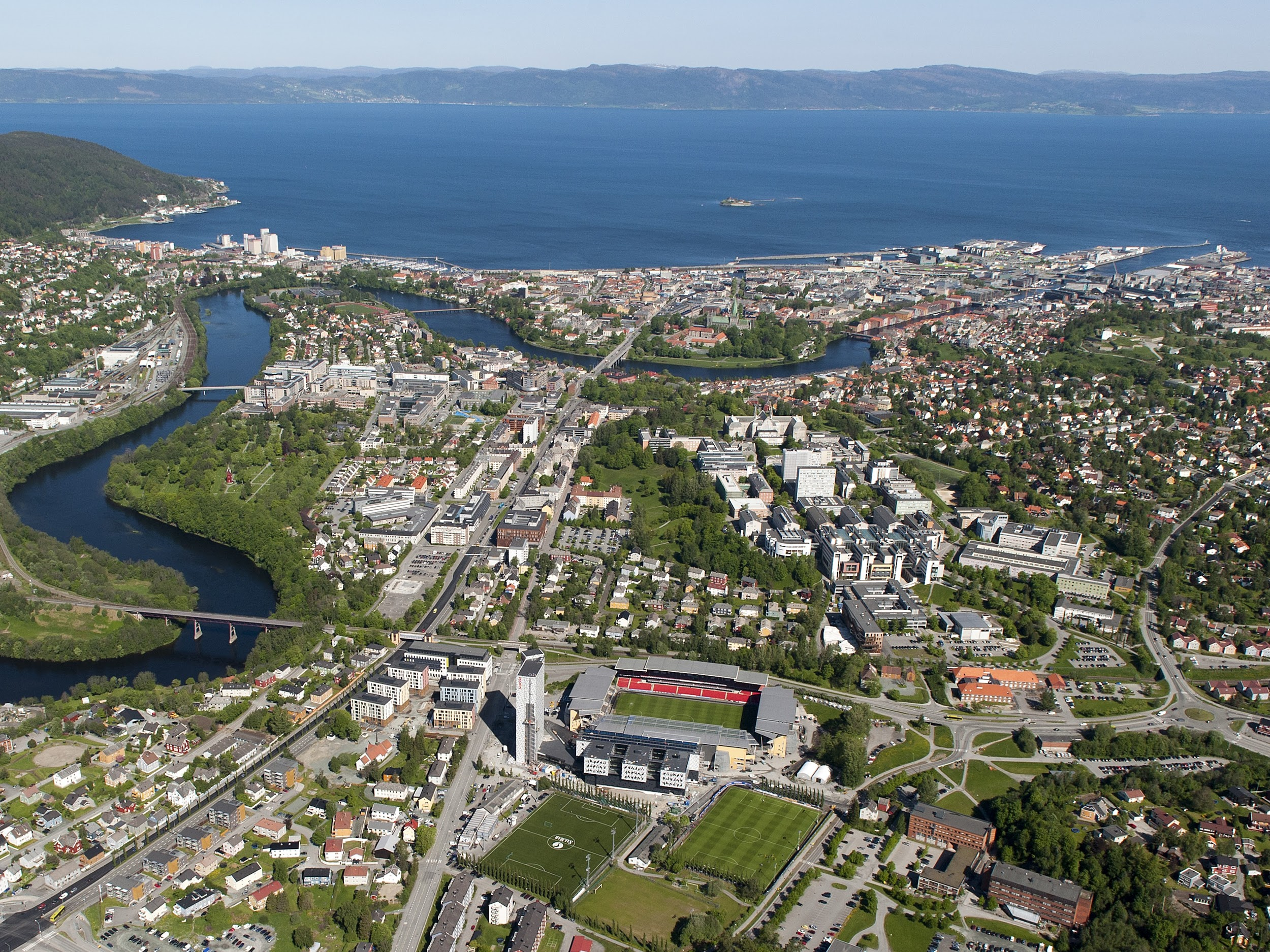 City of Trondheim seen from above.