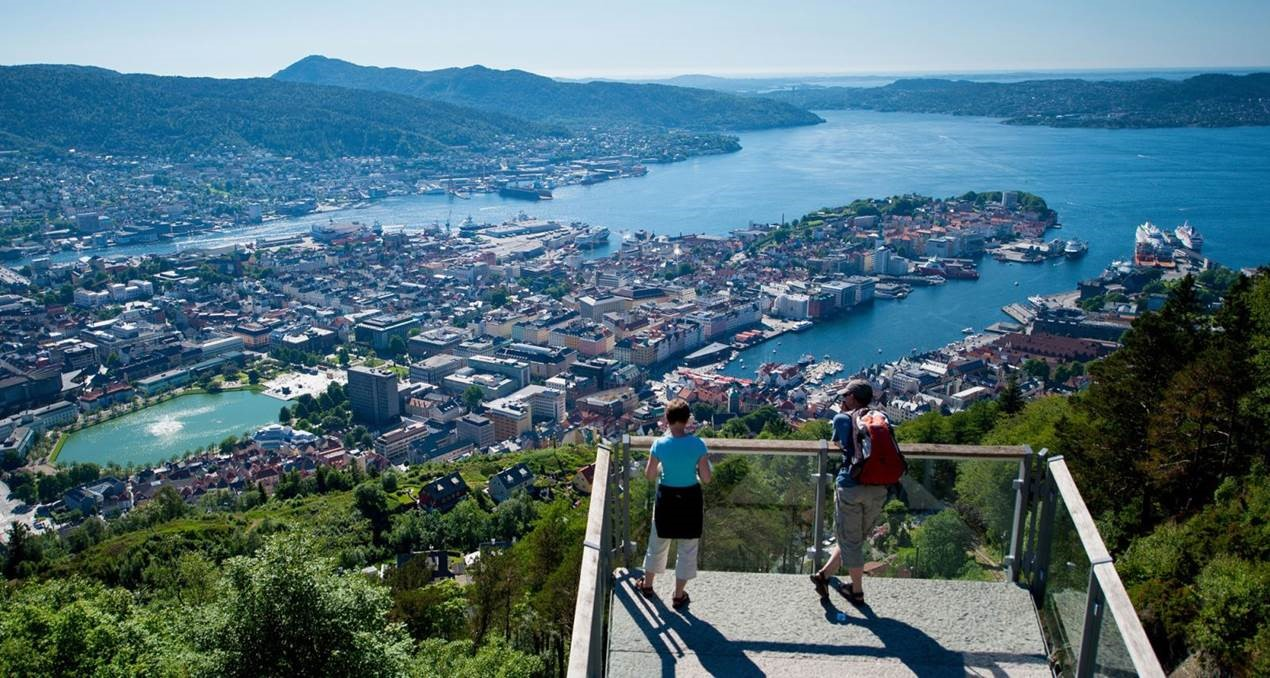 Bergen seen from a mountain spot