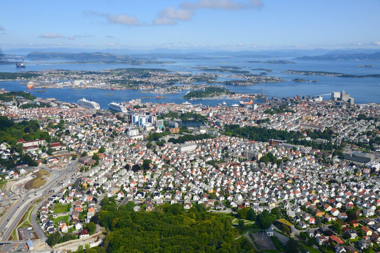 City of Stavanger seen from above.