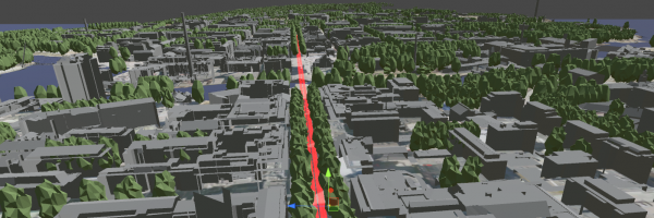 3D illustration of City of Tampere