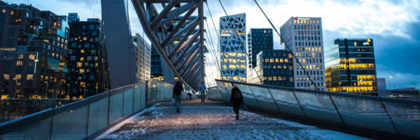 Bridge in the winter (Oslo)